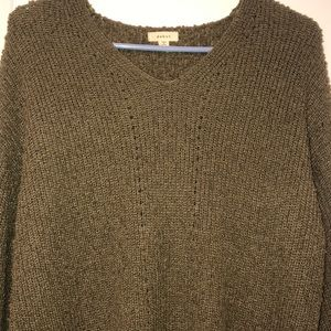Soft olive green debut sweater
